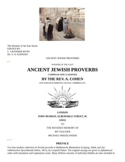 Ancient Jewish Proverbs - Rev A. Cohen