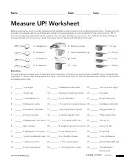 measure up final name date class measure up worksheet baking requires the most accurate. Black Bedroom Furniture Sets. Home Design Ideas