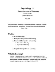 StudentsFall08_Psy1.1_Notes_Learning