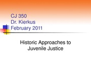 CJ 350 Chapter 4 Lecture (History) WInter 2011