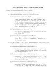 MATH 082 Spring 2008 Midterm 2 Version 1 Solutions