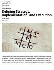 HBR Defining Strategy, Implementation, and Execution.pdf