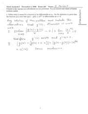 Mathematical Analysis Exam Integers and Functions