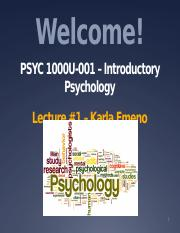 PSYC1000U - Lecture 1 - May 8 - Course Overview and Prologue Blackboard