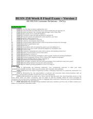 BUSN 258 Week 8 Final Exam - Version 2.docx