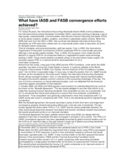 What have IASB and FASB convergence efforts achieved