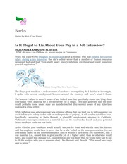 Management 448_Barry_Lecture Notes on Legality of Lying About Your Pay in a Job Interview