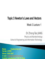 Topic 3 Lecture 1