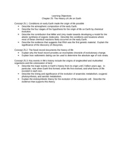 Ch 25 Learning Objectives