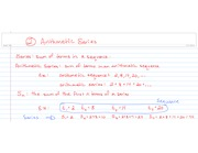 Arithmetic Series Notes