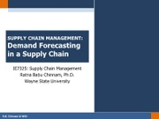 Chapter 7 - Demand Forecasting in a Supply Chain
