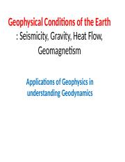 Geophysical Conditions of the Earth  .ppt