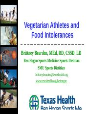 Vegetarian Athletes and Food Intolerances.ppt