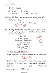 PHYS 11 Momentum Summary Notes