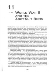 WWII and the Zoot Suit Riots