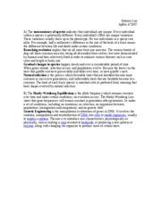 Ap bio evolution essay
