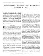 Device-to-Device Communication in LTE-Advanced networks