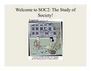 Lecture Slides 1 - Intro and History of Sociology