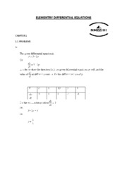 ELEMENTRY DIFFERENTIAL EQUATIONS 1.1
