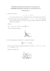 MATH 1813 Class Exercise 4 Solutions