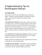 8 Digital-Marketing Tips for Bootstrapped Startups