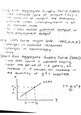 Macro Notes_Aggregate Supply Curve