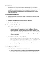 Acct 473 - Lecture notes - Integrated Reporting