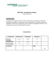 MGT 2320 Assignment 2 Rubric_2015.doc