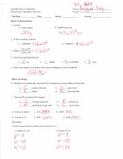 Intro to Chemistry FERP- Final Exam Review Packet ANSWER ...