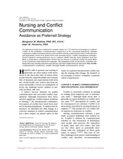 Nursing and Conflict Communication