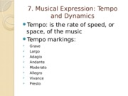 Chapter 7 Musical Expression