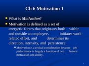 ch 6 motivation one