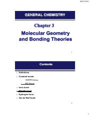 Chapter 3-(molecular geometry and bonding theory-not MO)