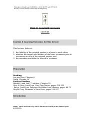Lecture 11 Leasehold Covenants.doc