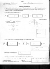 Sample Distribution I Quiz