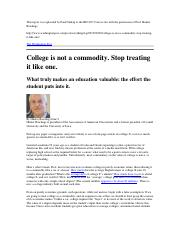 College is not a Commodity.docx