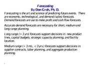 20 LECT NOTES (Forecasting)