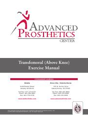 Transfemoral (Above Knee) Exercise Manual