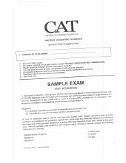 RCA Sample Exam