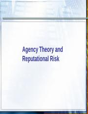 6.Agency Theory and Reputational Risk.ppt