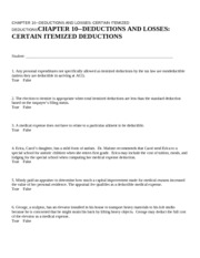 CHAPTER 10--DEDUCTIONS AND