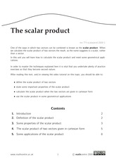 The scalar product