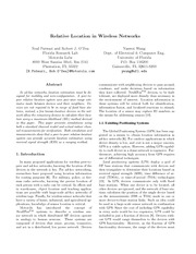 Relative Location in Wireless Networks