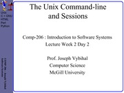 COMP 206 Lecture Week 2 Day 2 - Command Line + Sessions (p23)