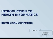 Essential concepts for biomedical computing