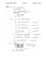 ECE 2200 Fall 2005 Midterm Exam Solutions