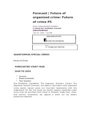 Undermining the Foundations of Organized Crime 44and.docx