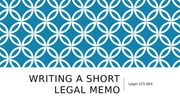 Writing a short legal memo