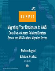 Deep Dive on Amazon RDS and AWS Database Migration Service pdf