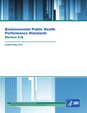 Environmental Public Health Performance Standards